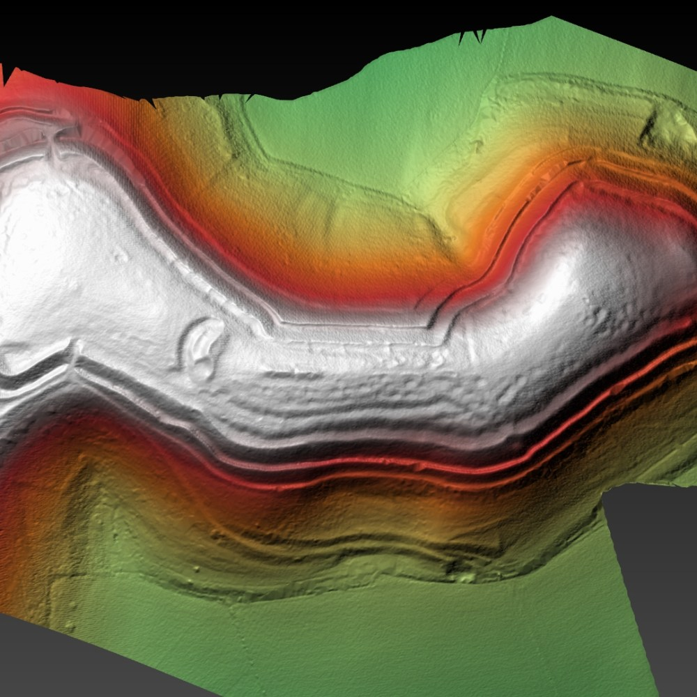 Hambledon Hillfort Digital terrain Model - generated with planlauf/TERRAIN
