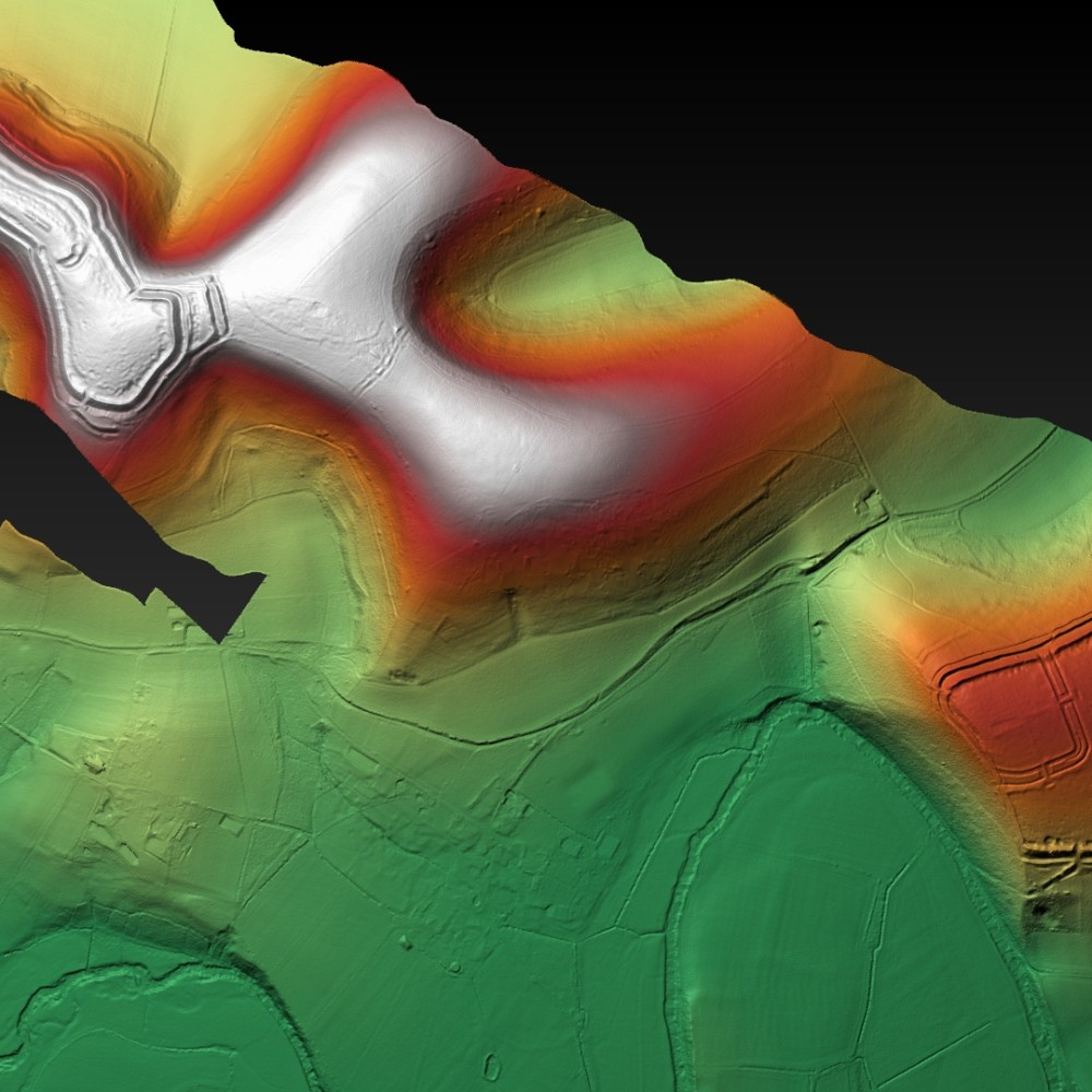 Hambledon and Hod Hill Relationship - Digital Terrain Model - generated with planlauf/TERRAIN