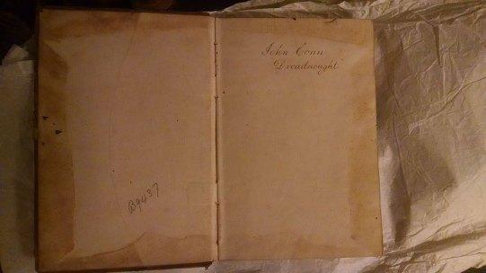 Capt. John Conn Day Signal Book inside cover.