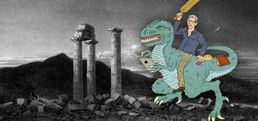 Tom Holland astride an Allosaurus, tilting at the cricket stumps of Nemea.