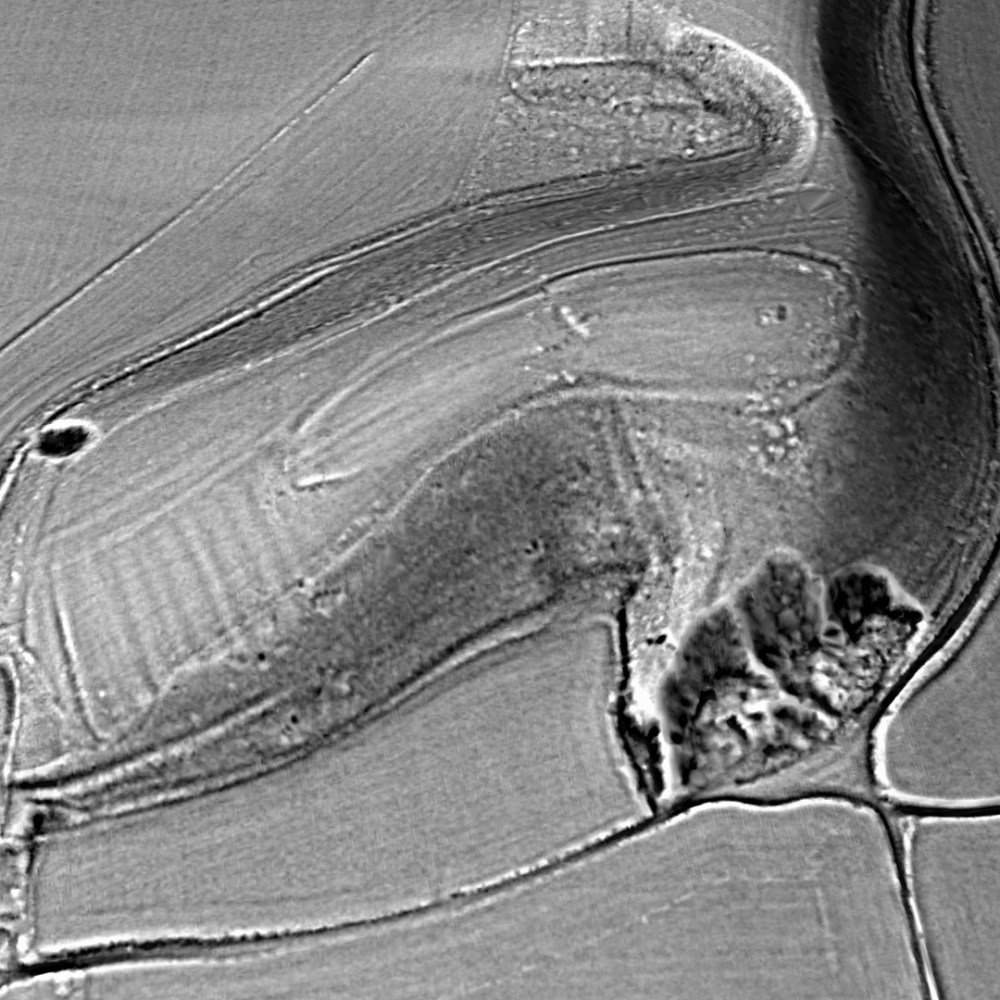Torberry Hillfort contour map - generated by planlauf/TERRAIN