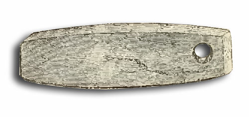 The whetstone found in the Hove Barrow. Drawn by Mr. George De Paris.