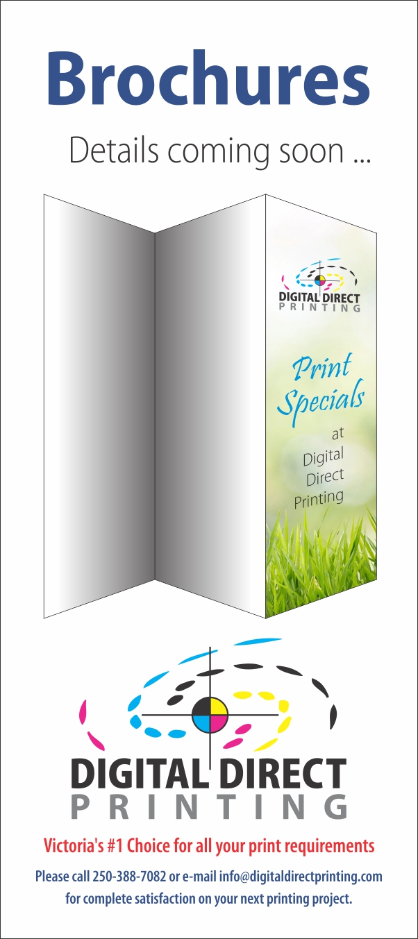 Image of brochure printing special at Digital Direct Printing