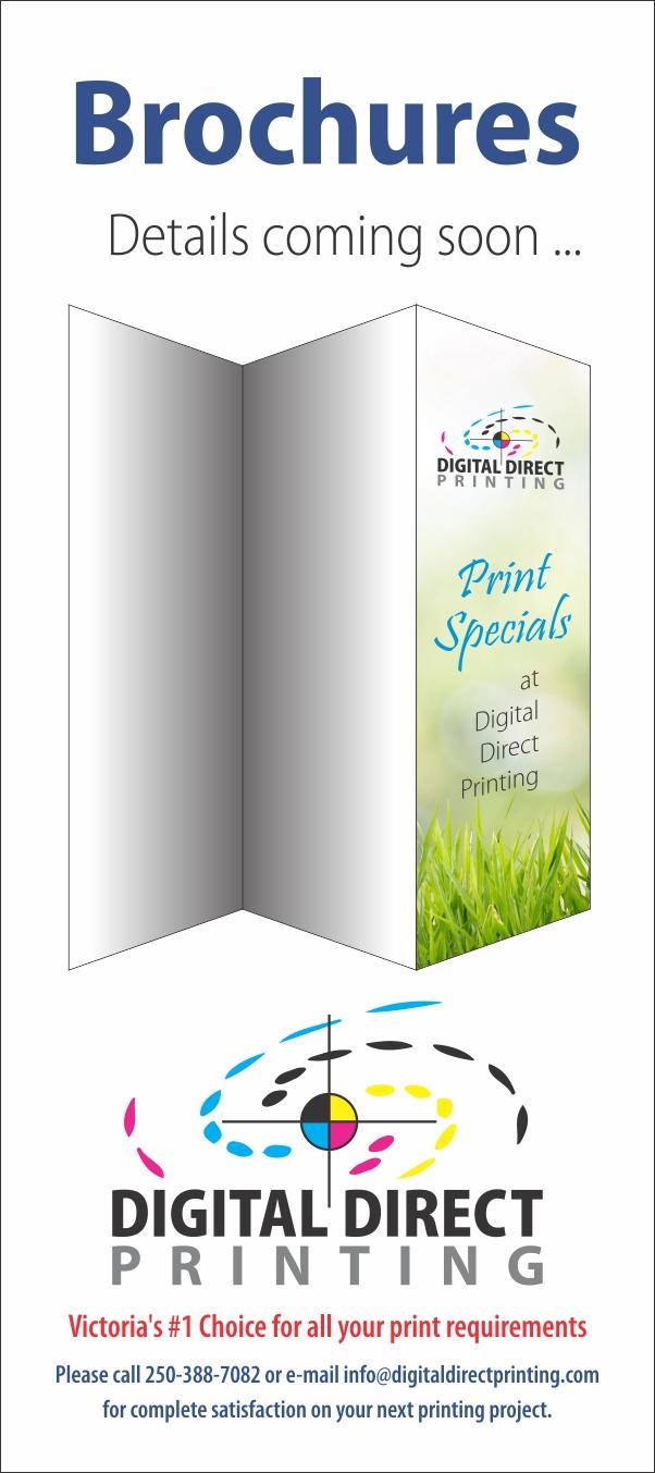Image of brochure printing special at Digital Direct Printing