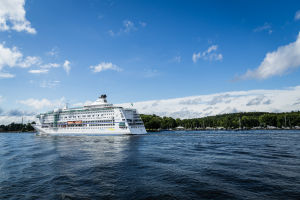 Cruise Ship Returns from the Stockholm Archipelago