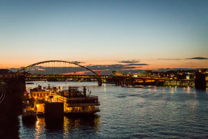 Fort Pitt Bridge at Dusk