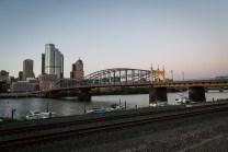 The Smithfield Street Bridge is the second oldest steel bridge in America. July 2015.