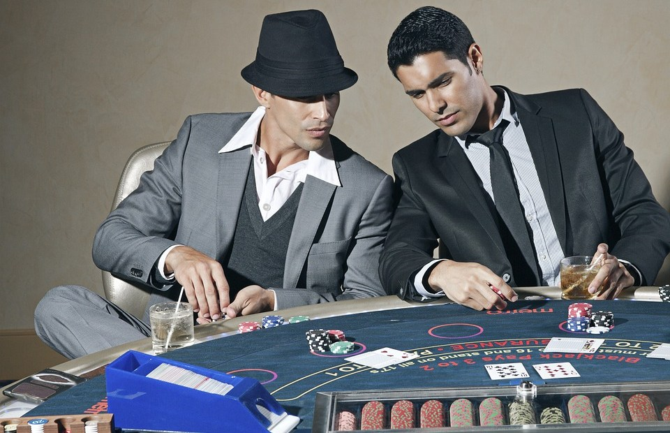 men playing in casino