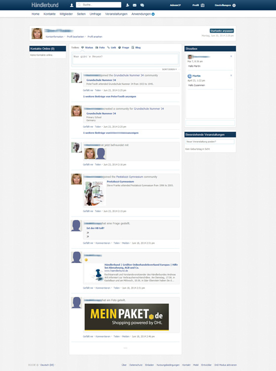 Soziales Netzwerk phpFox