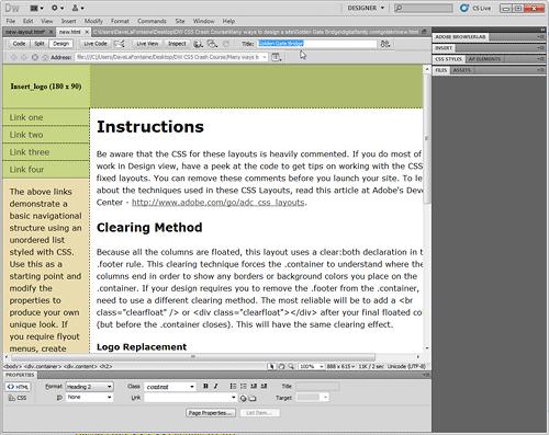 EDITING TEKS DI HALAMAN Sebuah DIBUAT DENGAN TATA LETAK CSS