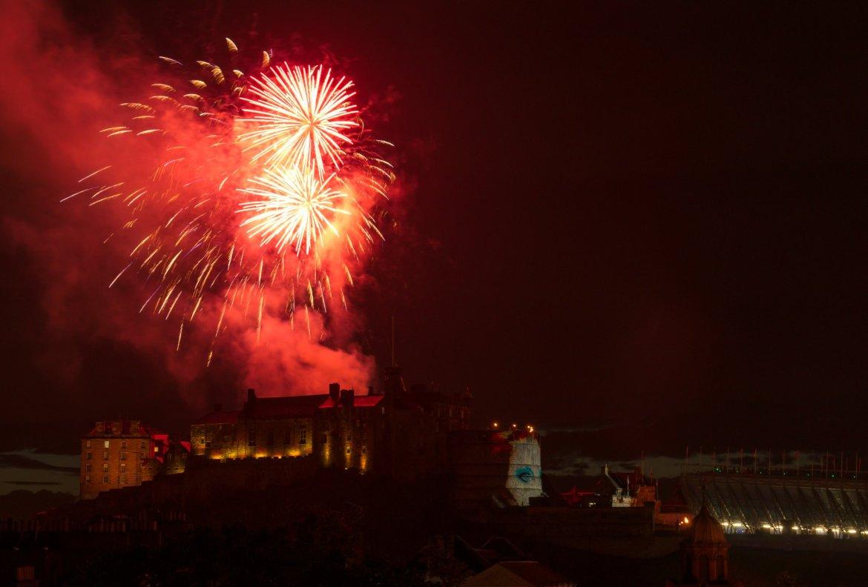 Edinburgh tattoo Fireworks