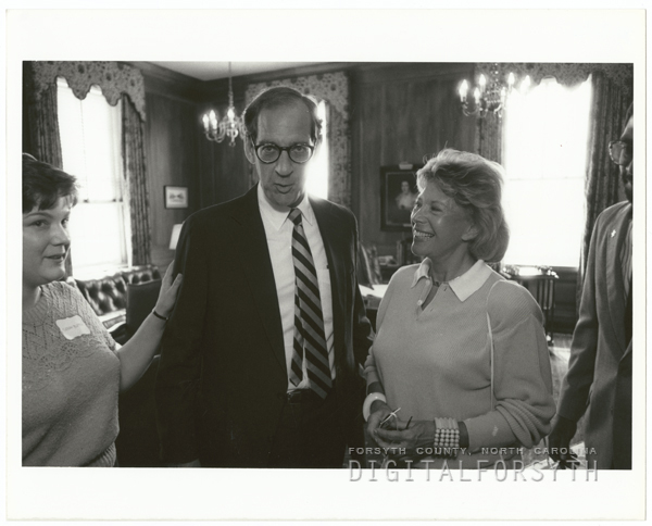 Dinah Shore and President Thomas Hearn at Wake Forest United Way event