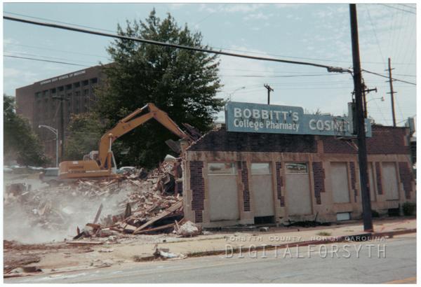 Destruction of Bobbitt's College Pharmacy