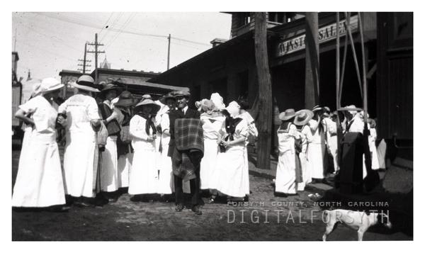 Students at Winston-Salem Train Station