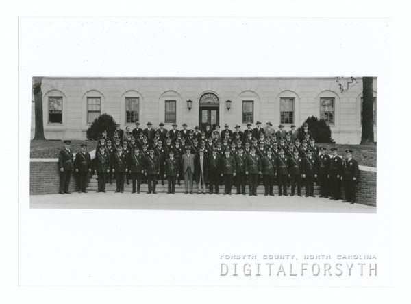 Winston-Salem Police Department in front of City Hall, 1936.