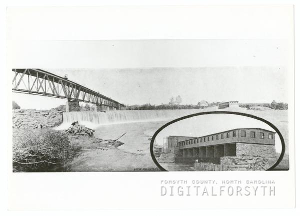 Idol's Dam and Power Plant on the Yadkin River, 1905.