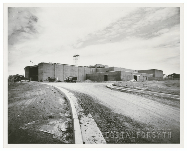Construction of the James G. Hanes Community Center, 1958.