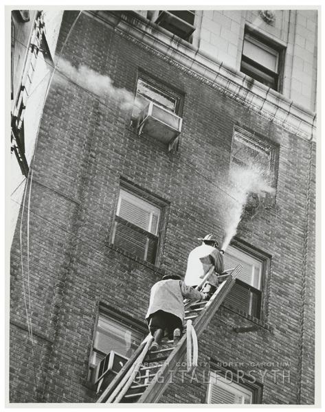 Fire at the Carolina Hotel, 1962.