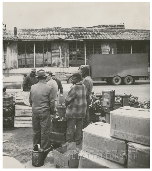 Damaged building from the City Market fire, 1959.