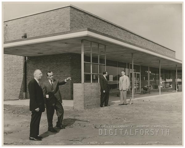 Northside Shopping Center under construction, 1958.