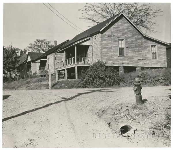 East Winston slums, 1956.