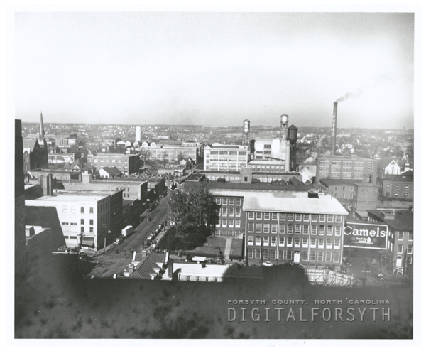 View from the Reynolds building, looking north, 1935.
