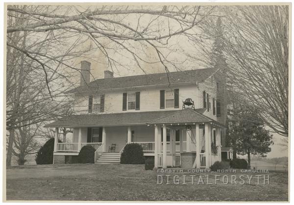 Augustus Eugene Conrad house in Lewisville, 1940.