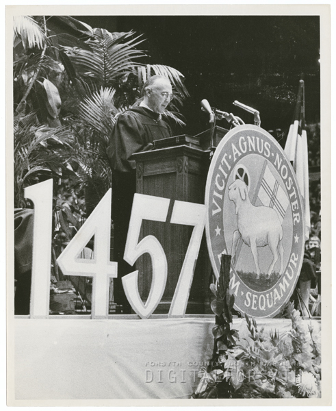 Celebration of the 500th anniversary of the Moravian Church, held in Memorial Coliseum, 1957.