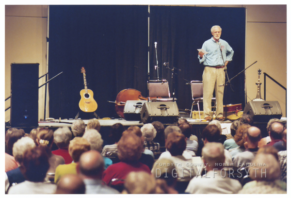 Forsyth County Public Library's On the Same Page event with Clyde Edgerton, at the Benton Convention Center, 2003.