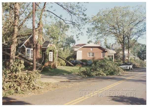 Damage to various parts of the city from the tornado that struck on May 5, 1989.