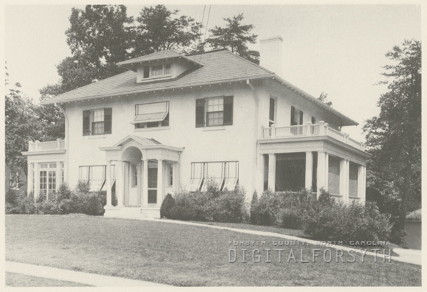 Arline F. Messick house on Buena Vista Road, 1924.