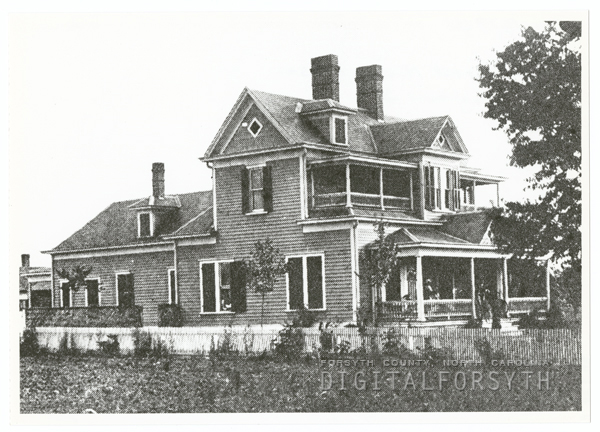 William Ernest Nissen House at 2502 Waughtown Street, 1905.