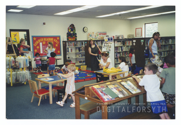 Rural Hall Branch Library interior.