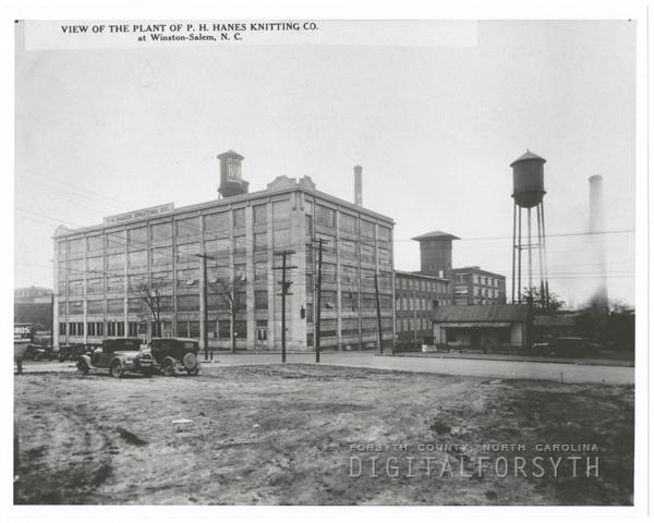 P. H. Hanes Knitting Company plants on North Main Street.