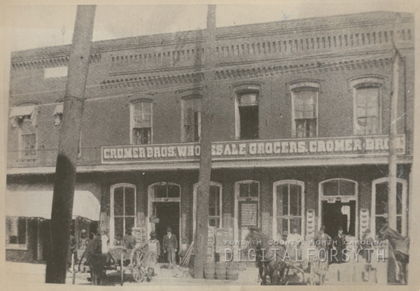 Cromer Brothers Wholesale Grocers, 1899.