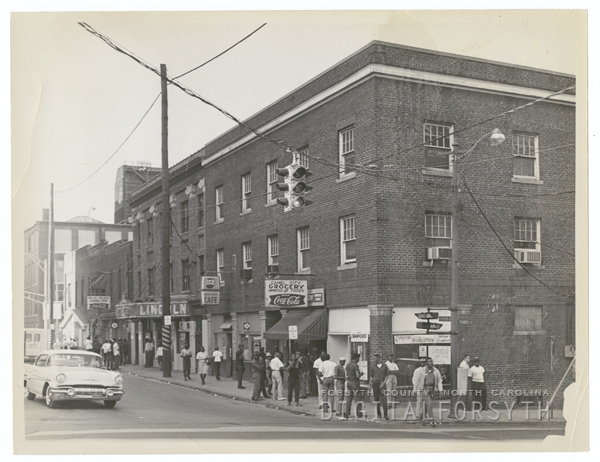 View of North Church Street and East Third Street, 1966.