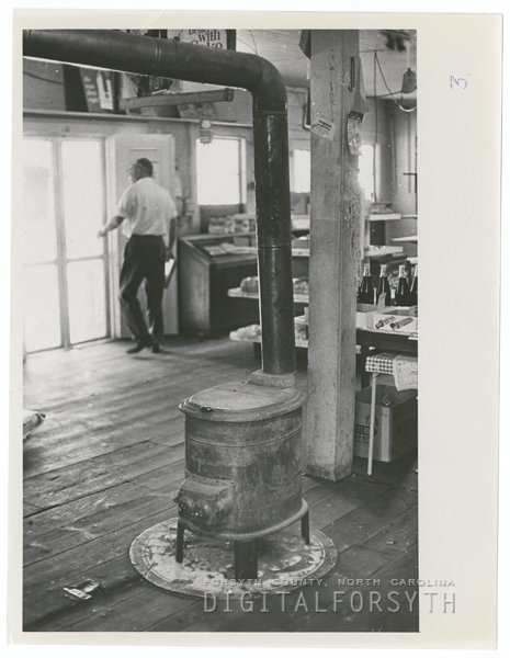 Interior of Bethania General Store, 1968.