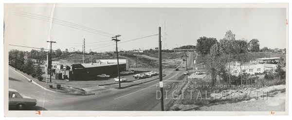 Wide view of Cloverdale Avenue and Miller Street.