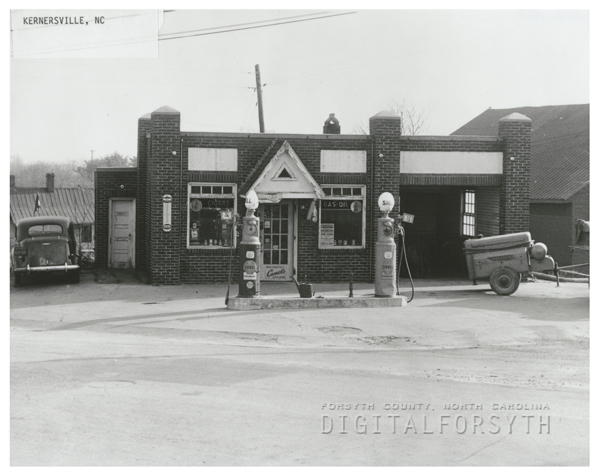 Quality Oil Company. Shell Service Station in Kernersville, N.C.