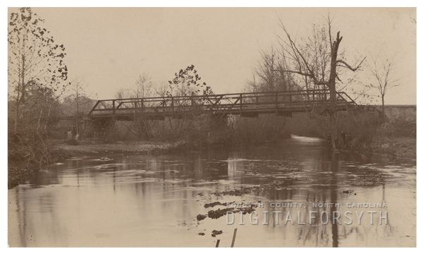 Bridge over Salem Creek, also known as Wachovia Brook.
