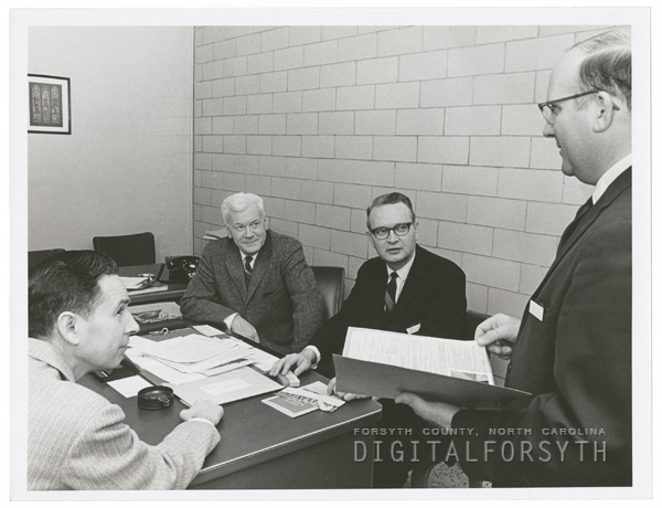 Dr. Richard Young (second from left), Director of Pastoral Care at Baptist Hospital, 1967.