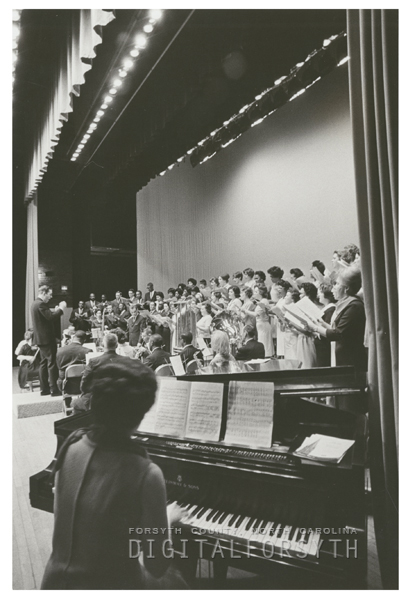 Easter concert by students and teachers of the city-county schools held at Reynolds Auditorium, 1967.