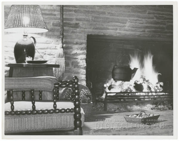 Chestnuts roasting on the hearth, 1962.