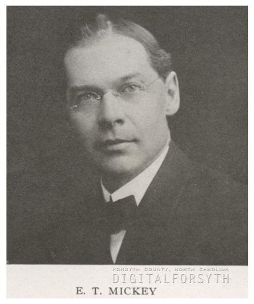 Edward T. Mickey, 1918.