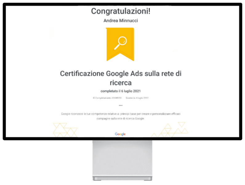 attestato google ads