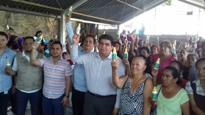 salub municipal entrega de repelente para zika