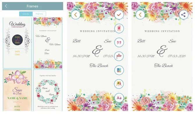 Create The Perfect Wedding Invitation Using These Phone Apps