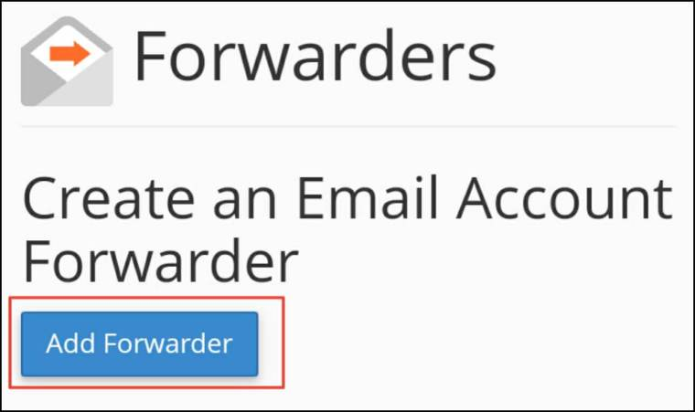 click add forwaders