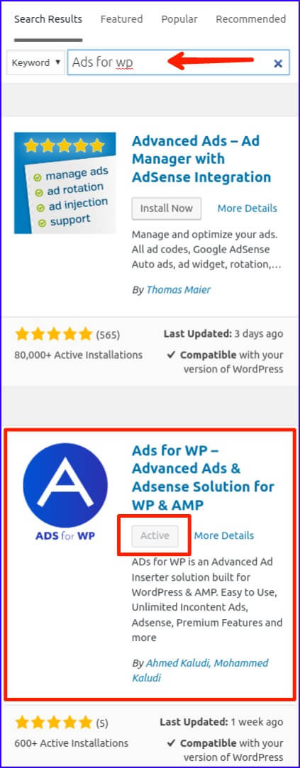 Install Amp Ads Plugin