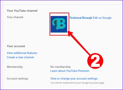 Click Youtube Channel Icon